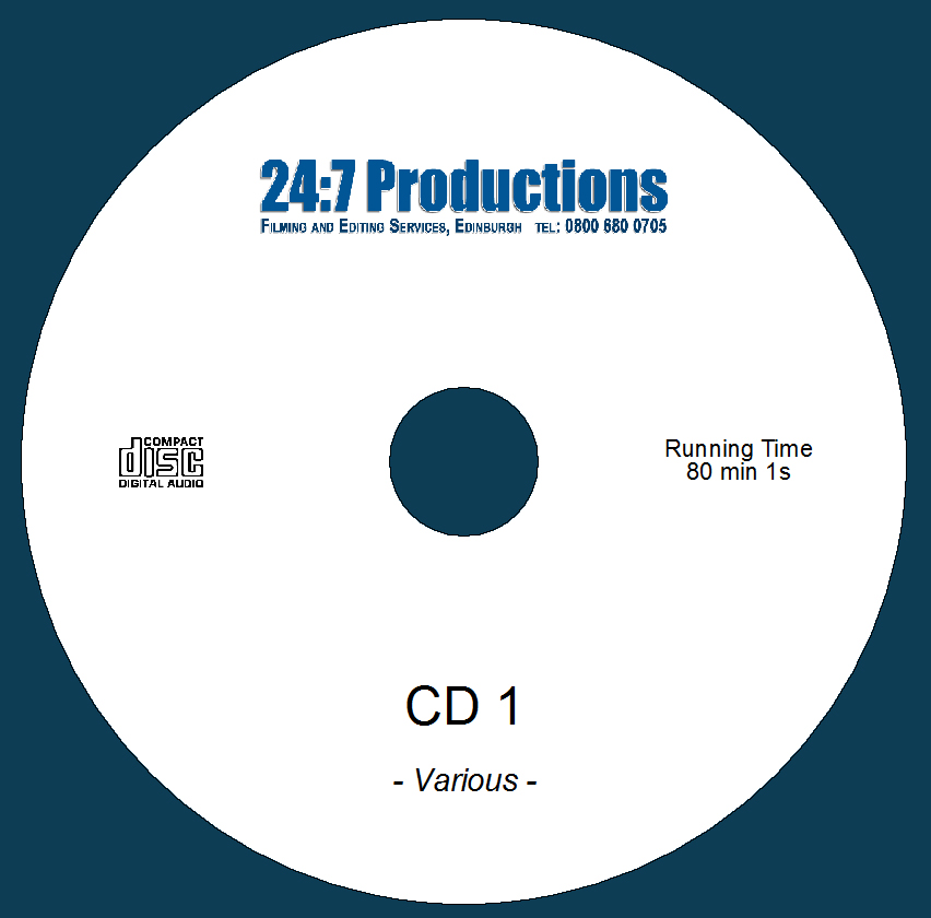 Audio CD printed with