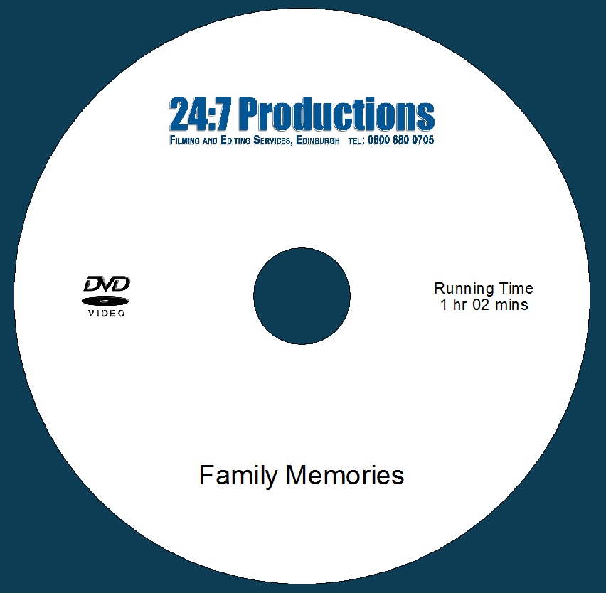 DVD Video printed with
